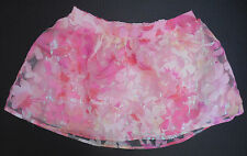 NEW Justice Girls Pink Peach sequin sparkle floral layers skirt size 5 8 or 14