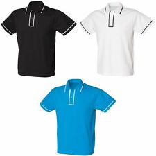 Skinni Fit Mens Contrast Piped Micro Pique Polo Shirt