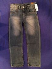 NWT H&M lightweight RELAXED FIT faded blue inner ADJUSTABLE waist JEANS boys 7 8