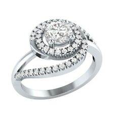0.74ct Round Cut White Sapphire Solid Gold Engagement Wedding Ring