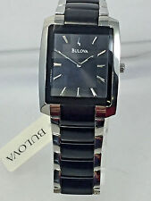 Men's Bulova 98A117 Two-Tone Stainless Steel Black Dial Watch