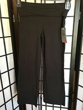 Danskin Now Girl's Solid Black Yoga Pants W/Roll Down Top NWT