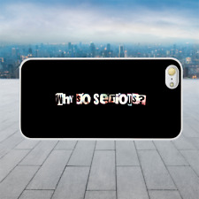 WHY SO SERIOUS JOKER QUOTE White Hard Phone Case Cover Fits Iphone Models