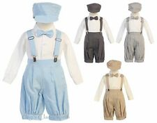 New Lito Baby Toddler Boys Knickers Vintage Suit Outfit Set Easter Wedding Hat