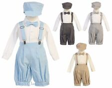 New Baby Toddler Boys Knickers Vintage Suit Outfit Set Easter Wedding Hat G827