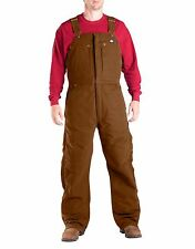 dickies big mens super heavyweight insulated arctic bib overalls brown duck 5xl