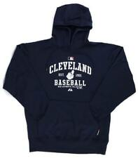 Majestic MLB Cleveland Indians Navy Blue Therma Base Performance Hoodie NWT