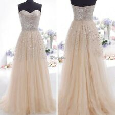Sexy Women Evening Party Prom Ball Cocktail Formal Gown Bridesmaid Long Dress UT