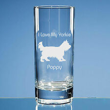 Yorkshire Terrier Dog Lover Gift Engraved Highball Glass: Can Be Personalised