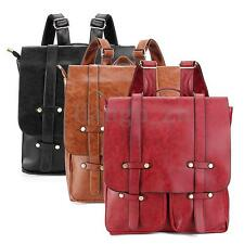 Vintage Women PU Leather Backpack Travel Rucksack Shoulder School Bag AU STOCK