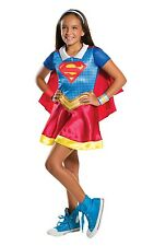 Childs Supergirl DC Superhero Fancy Dress Costume Outfit Age 3 - 10 Years