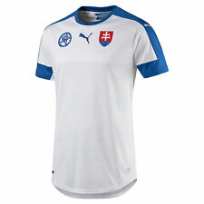 Puma Mens Gents Football Soccer Slovakia Home Shirt Jersey Top 2016 - White