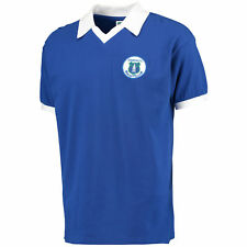 Score Draw Retro Mens Gents Football Soccer Everton 1978 Home Shirt Jersey Top