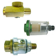 "IN- LINE REGULATOR / FILTER / LUBRICATOR (Oiler)  FOR AIR TOOLS 1/4"" BSPT / BSPP"