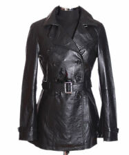 Ladies PARIS BLACK Classic Hip Length Real Lambskin Nappa Leather Jacket Coat