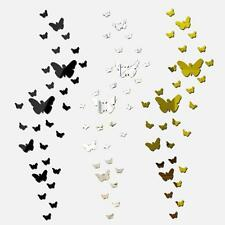 25pcs 3D Butterfly Mirror DIY Wall Sticker Removable Decal Mural Home Room A0Q8