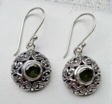 Gemstone Solid Silver, 925 Balinese Traditional Earring 27403
