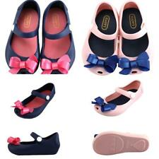 Lovely Bow Baby Girls Kids Jelly Shoes Sandles Summer Beach Shoe Rain Shoes