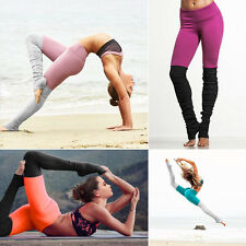 Womens LADIES YOGA Workout Gym Exercise Sports Pants Leggings Fitness Trousers