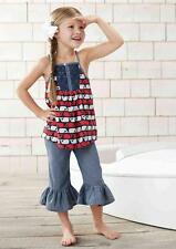 Mud Pie Boathouse Baby Collection Girls Tunic Capris Pants Set 1112235 Whale New