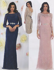 Long Lace Mother Of Bride/Groom Gown Formal Dress Party Evening Homecoming S~5XL