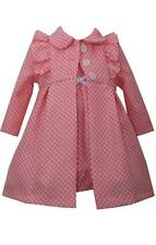 Bonnie Jean Girls Baby Pink Dress and Coat Set Spring Easter 2 Pc Set New