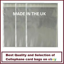 135mm x 130mm Small Square Cello Cellophane Display Bags Self Seal + 30mm Flap