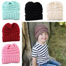 Infant Knit Crochet Cap Kids Knitted Wool Hat Winter Warmer Children's Beanie
