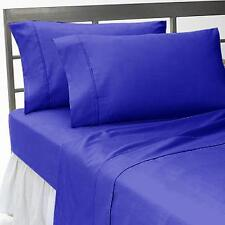 1000TC EGYPTIAN COTTON ALL BEDDING ITEMS SELECT US SIZE  EGYPTIAN BLUE SOLID