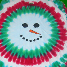 Hand-dyed Tie Dye T-shirt FROSTY THE TIE DYE SNOWMAN Youth & Adult Sizes to 2X