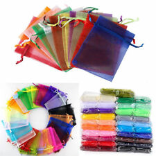 100PCS Sheer Organza Wedding Party Favor Gift Candy Bags Jewelry Pouches