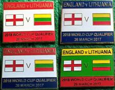England v Lithuania 2018 World Cup Qualifier, Wembley 26 March 2017 Pin Badge