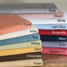 1000TC 100%EGYPTIAN COTTON LUXURY BEDDING ITEMS TWIN SIZE ALL SOLID COLOR