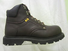Mens Caterpillar Lace Up Steel Toe Cap Work Boot, Leather, Moon Dance, Grouser