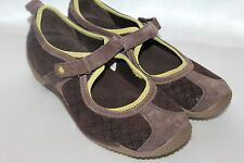 MERRELL Ortholite Brown Suede Leather Mary Jane Air Cushion Shoes Sz 6.5