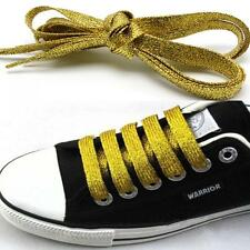 45 Inch Canvas Metallic Glitter Shoelaces Flat Shoe Boots Athletic