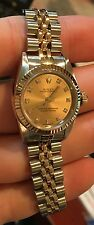 ROLEX LADIES SS DATE 69160 QUICKSET CIRCA 1984 Slate tapestry Dial Jubilee band