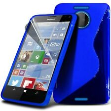 S Line Wave Gel Skin Case Cover & Screen Protector For Microsoft Lumia 950 XL