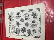 McCulloch Chainsaw ILLUSTRATED PARTS LIST CARBURETORS 1972