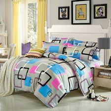 Digital Square Single Queen King Bed Set Pillowcase Quilt/Duvet Cover LAUbt
