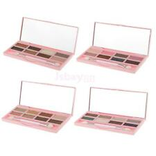 Pro 8 Colors Eye Shadow Makeup Cosmetic Shimmer Eyeshadow Palette & Brush Set