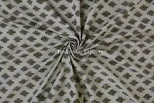 Indian Handmade Block Print Sanganeri Ethnic Cotton Voile  Fabric by the Yard