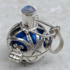 Gemstone Solid Silver, 925 Balinese Brass Mystic Chime Pendant 24966