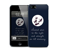Peter Pan Neverland Quote glossy protective phone cover case for iPhone / Galaxy