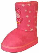 New Girls Peppa Pig Thunder Fleece Lined Cartoon Character Winter Snugg Boot