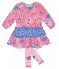 NWT LE TOP FLORAL BLOOM DRESS & TIGHTS girl set 6M 9M 12M 18M 24M 2y 3y 1201453