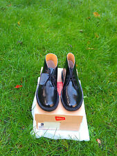 Clarks  Originals 'Desert Boot' Black Patent Leather Shoes Size UK 7.5,EU 41.5