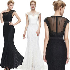 Long Sexy Floor-Length Wedding Dress Ball Gown Evening Party Cocktail Prom Dress