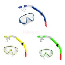 Adjustable Swim Diving Gear Snorkel Set Scuba Mask Goggles + Breathing Tube