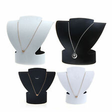 Velvet Folding Jewelry Necklace Bust Earring Display Holder Stand Rack Show Case